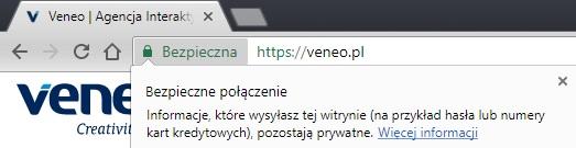 Zabezpieczone protokołem https witryny w przeglądarce Google Chrome
