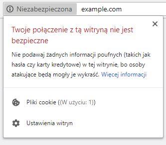 Witryna-bez-ssl-oznaczenie-google-chrome