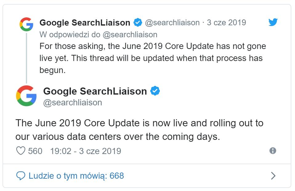 Potwierdzenie aktualizacji