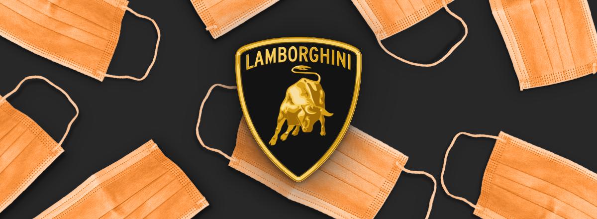 Lamborghini szyje w swoich fabrykach maseczki