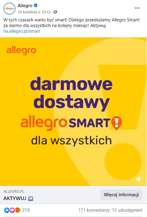 Allegro udostępnia za darmo Allegro Smart