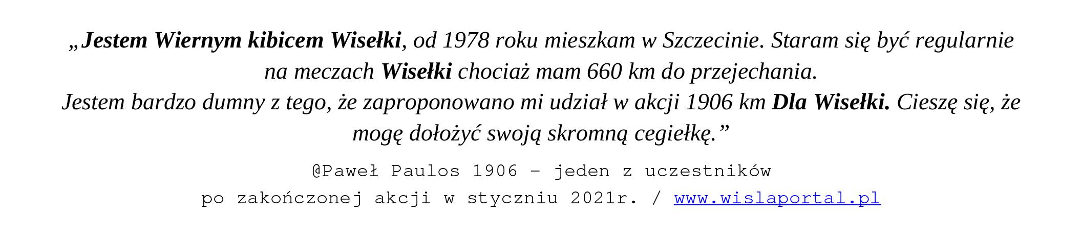 @Paweł Paulos 1906 - jeden z uczestników po zakończonej akcji w styczniu 2021 r. / www.wislaportal.pl