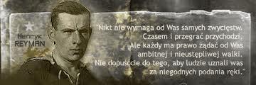 Fot. Tablica z fragmentem przemówienia Henryka Reymana