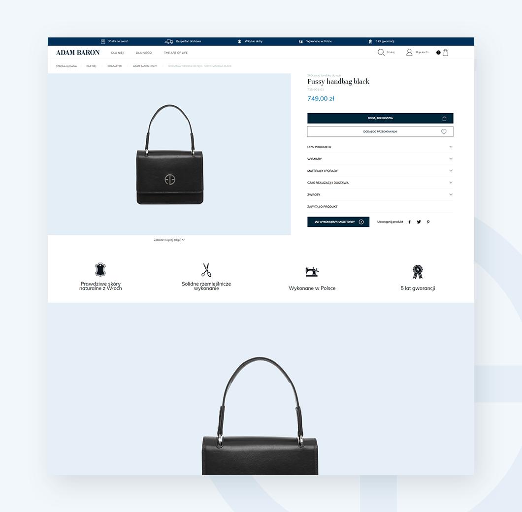 Karta produktu w sklepie internetowym adam-baron.pl