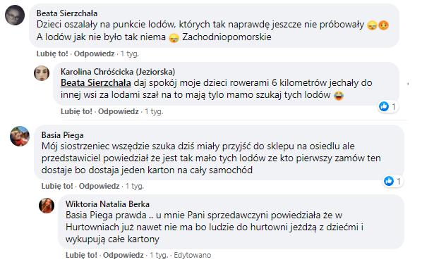 Fot. Screen wymiana komentarzy użytkowników na Facebooku