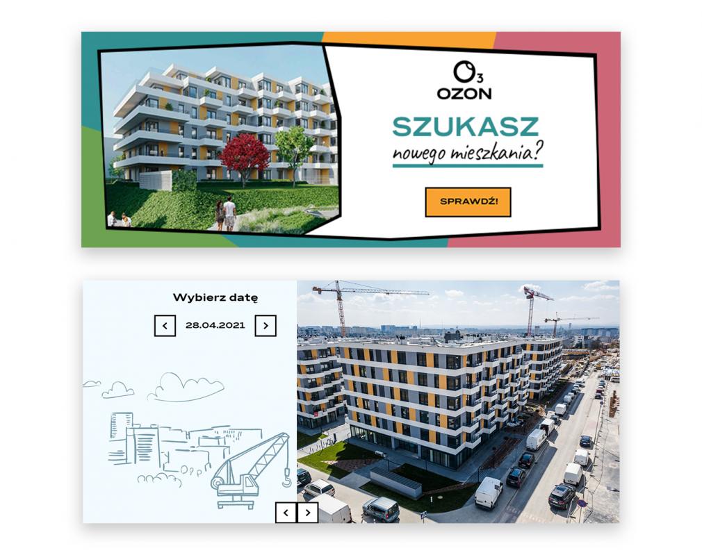 Prezentacja Osiedla: baner i Dziennik budowy na stronie internetowej