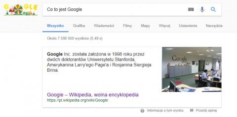 Google Direct Answers - pozycja zero