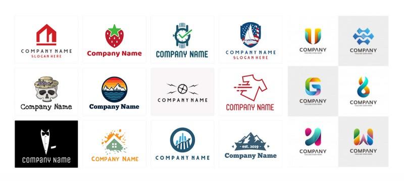 Szablony logo z banków zdjęć i generatorów.