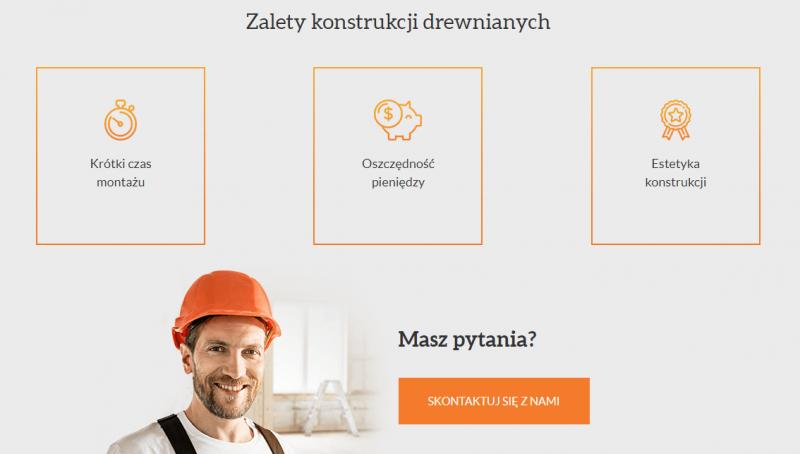 Język korzyści w witrynie