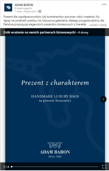 ADAM BARON – prezentacja pdf na profilu