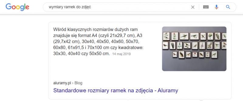 Aluramy - pozycja 0 w Google c.d.