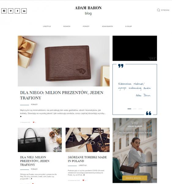 Magazyn blogowy ADAM BARON