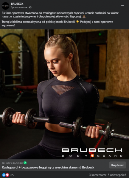 Brubeck - reklama Facebook Ads